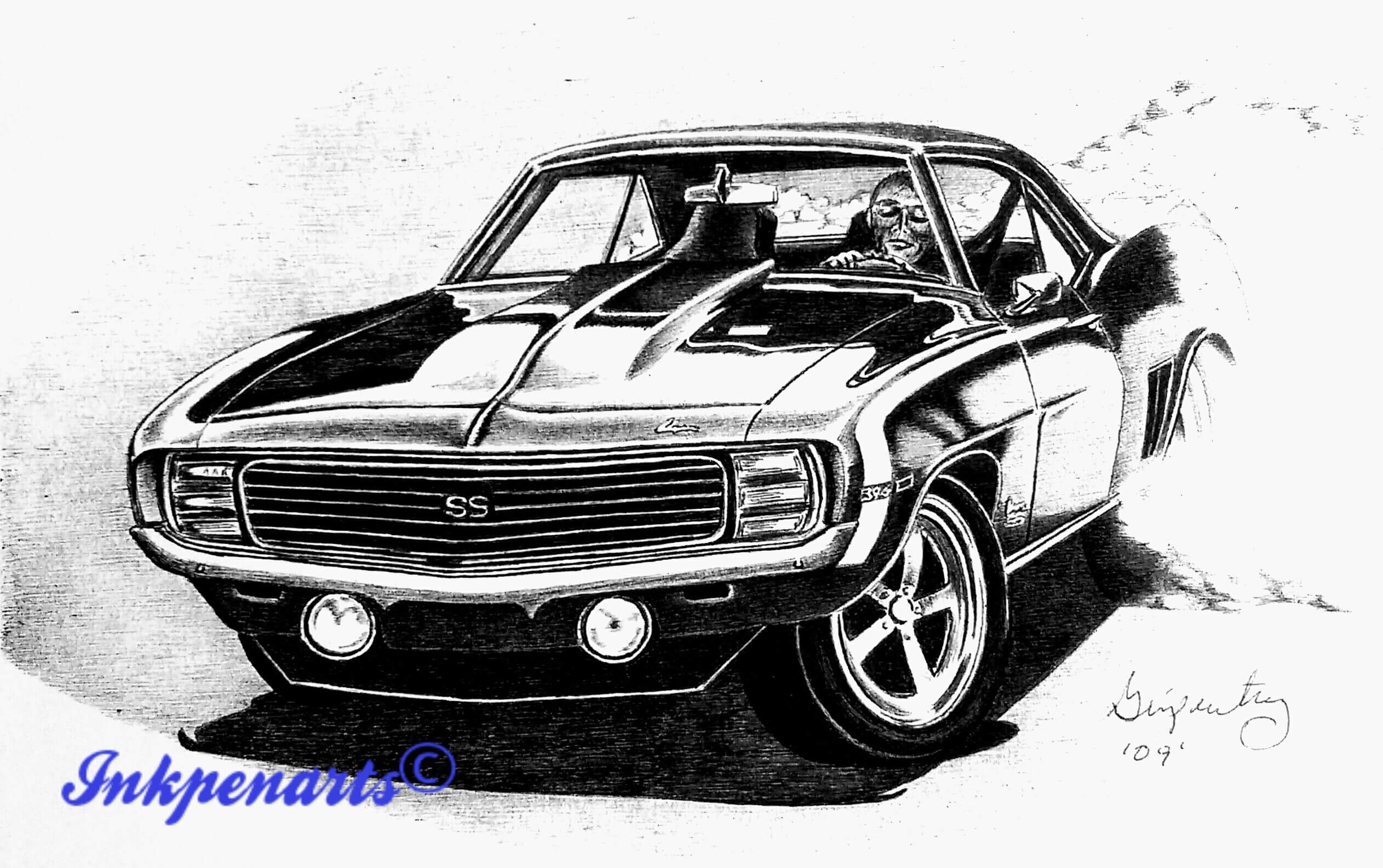 Ryan Mcclary together with 1967 Camaro Dash Wiring Harness Diagram also Steve Lafler Illustration Color Sep Files as well 1977 Pontiac Trans Am Bandit Rudy Edwards likewise How To Draw A 69 Camaro. on chevy camaro drawings